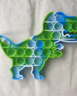Reverse image of a green and blue Dinosaur popit